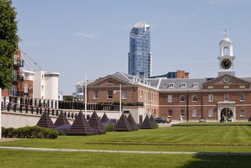 Apartment buildings. Gunwharf Quays. Portsmouth. UK