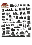 Fototapety vector collection of various buildings