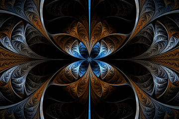 Dark Fractal Background