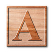 wooden letter A.