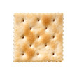 Saltine Cracker isolated on white