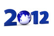 Das Jahr 2012 mit Weltkugel