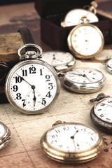Antique retro silver pocket ςwatches
