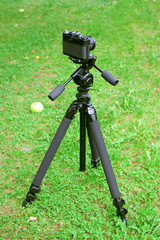The camera and tripod