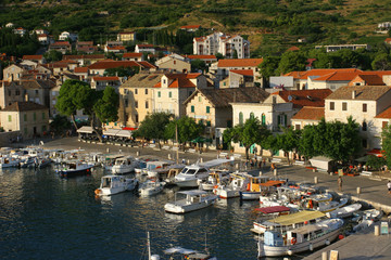 Mediterranean village Komiza, on island Vis, Croatia