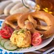 obazda cheese and pretzel