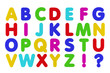 Fridge Magnet Alphabet isolated over white background