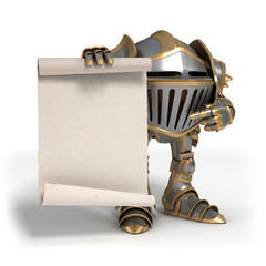 Knight with a scroll