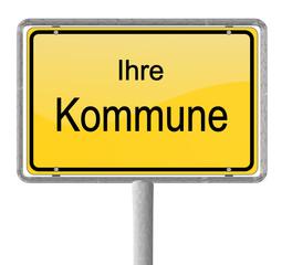 Ortsschild Kommune