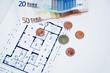 Geldscheine Grundriss Immobilie
