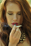 beauty, face, girl, outdoor, smoking, teen, young poster