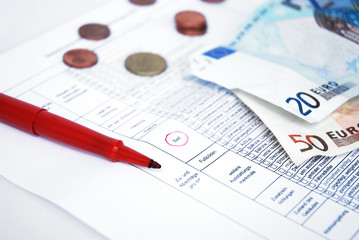 Protokoll Miete Geld