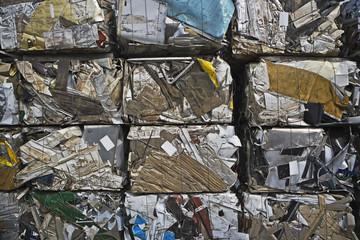 Cubed Scrap Metal