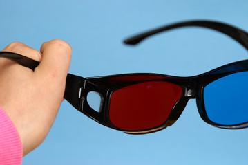 Holding 3D Glasses