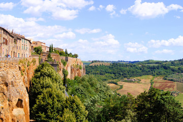 Views over Umbrian countryside from Orvieto, Italy