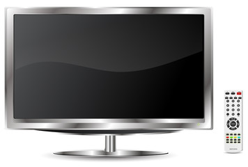 LCD TV with remote control