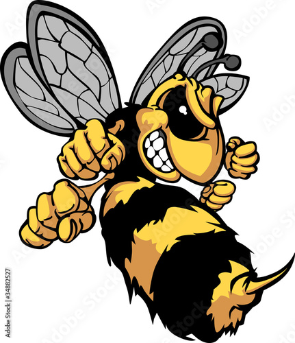 Bee Hornet Cartoon Image