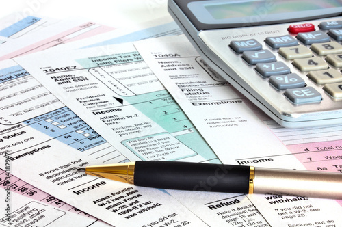 Business concept. Financial papers.