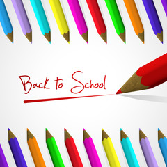 Back to school background with handwritten text.Vector