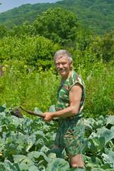 Gardener with hoe 1