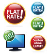 Surfen ohne Limit - Flatrate Icon Set