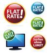 Surfen ohne Limit - Flatrate Icon Set
