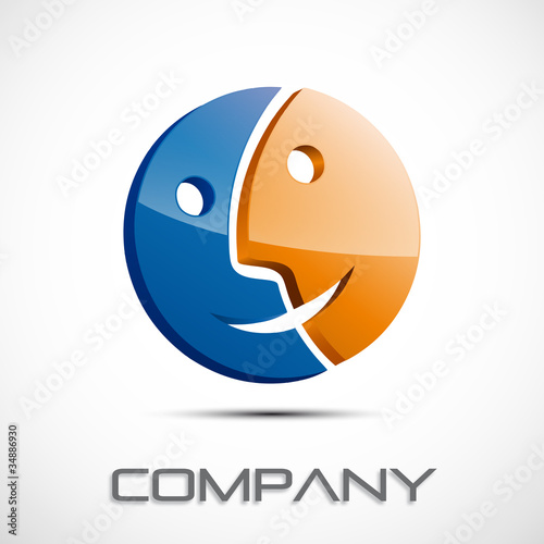 Logo double-sided # Vector