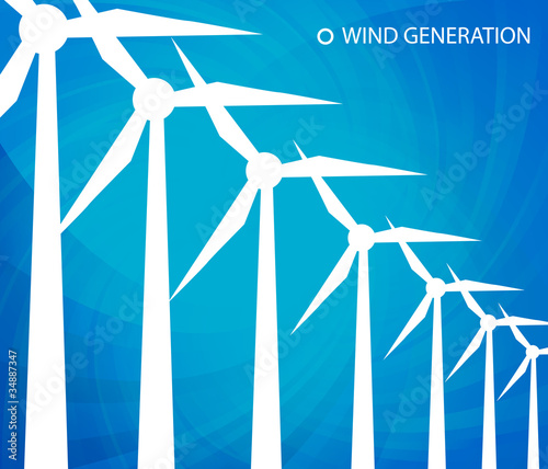 Wind generator vector background