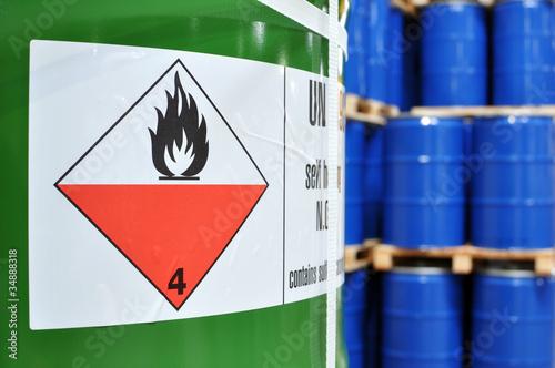 Leinwandbild Motiv Chemielager // chemical depot industry