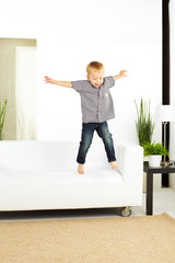 jumping from sofa