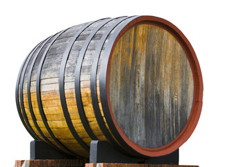 Oak wine barrel on a wine farm in Cape Town