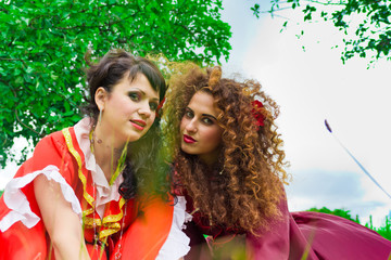 Two beautiful gypsy girls