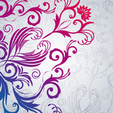Abstract floral background with east flowers.