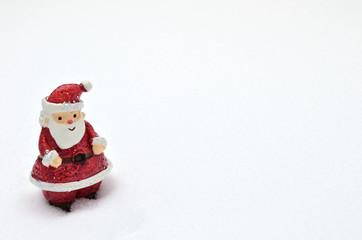 サンタクロース 雪バック