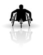 Wheelchair racer vector