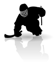 Sledge hockey player vector