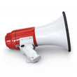 Megaphone - on the ground with side view