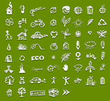 Ecology icons for your design