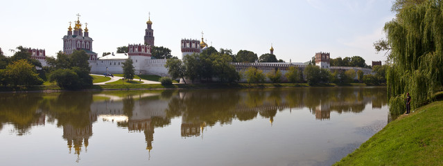 View of Novodevichy Convent from the Pond in Moscow