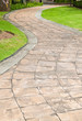 Stone pathway in the garden. - 34896351