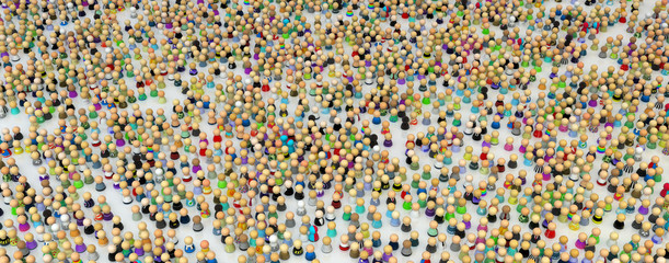 Cartoon Crowd, Figure Field