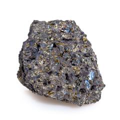 Roche volcanique avec cristaux d'olivine