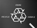 Chalkboard - Recycle, reduce, reuse poster