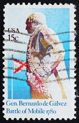 Postage stamp USA 1980 General Bernardo de Galvez