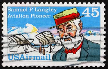 Postage stamp USA 1988 Samuel Pierpoint Langley