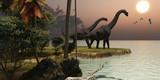 Fototapety Brachiosaurus Sunset