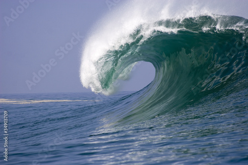 wave breaking at Iquique in Chile 2
