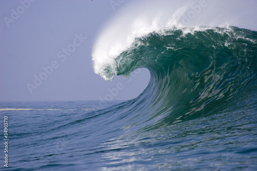 wave breaking at Iquique in Chile
