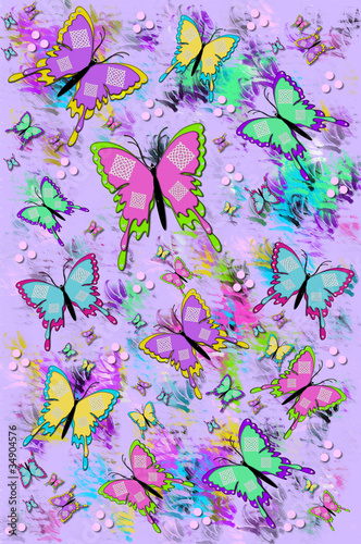Abstract Flutterflies lilac bigWFT