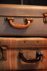 Retro pair of suitcases